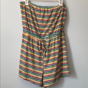 Rainbow romper with belted waist